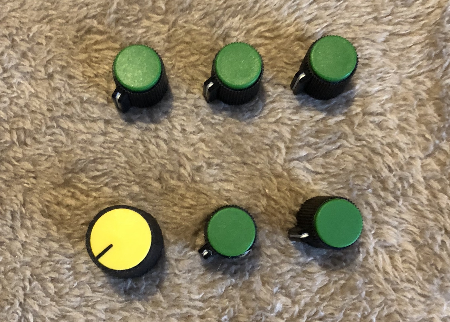 Excalibur Knobs - Aftermarket Style - Small Green